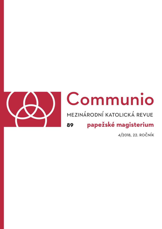 4/2018: Papežské magisterium