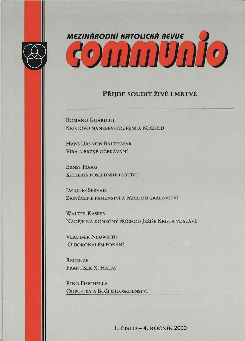 1/2000: Přijde soudit živé i mrtvé