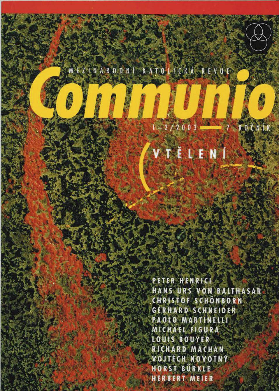 1–2/2003: Vtělení