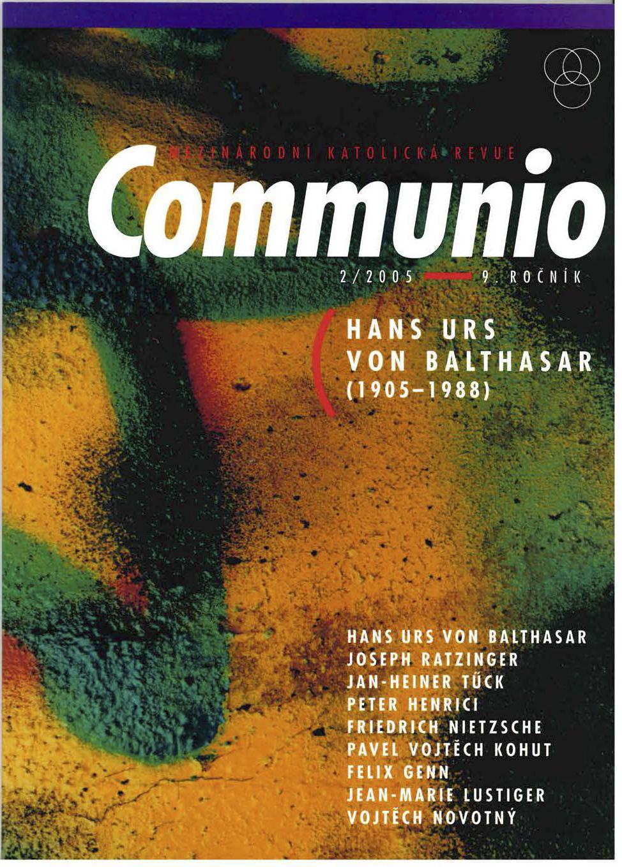 2/2005: Hans Urs von Balthasar (1905–1988)