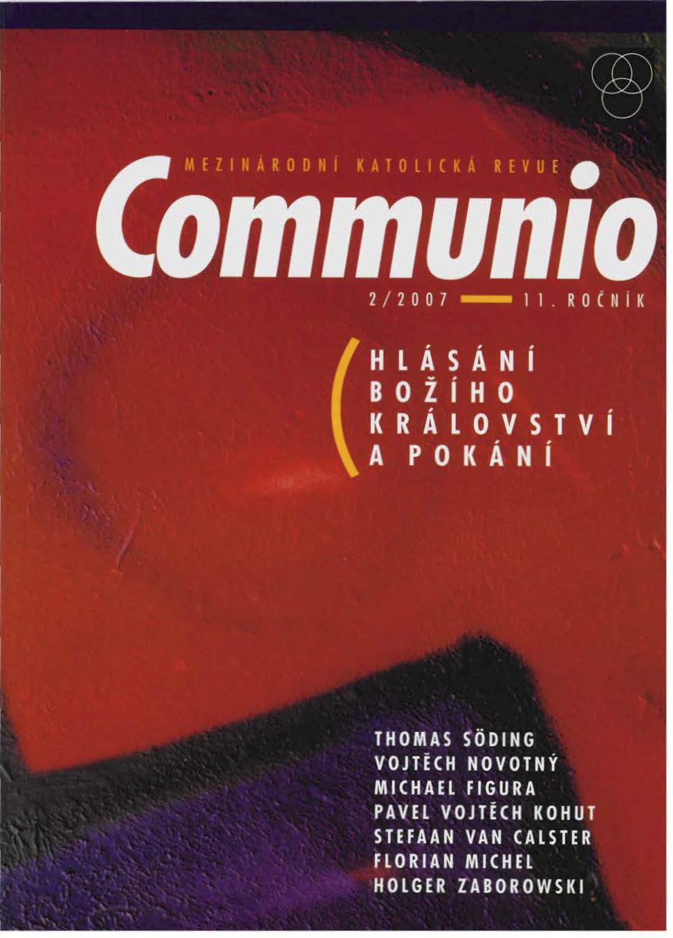 1/2007: Svátost smíření