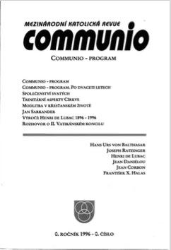 0/1996: Communio – program